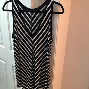 2 Lane Bryant Swing Tanks 18/20- 1 Black 1 Chevron